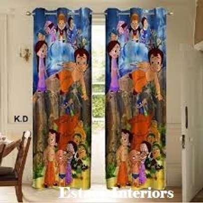 Cartoon print curtains image 5