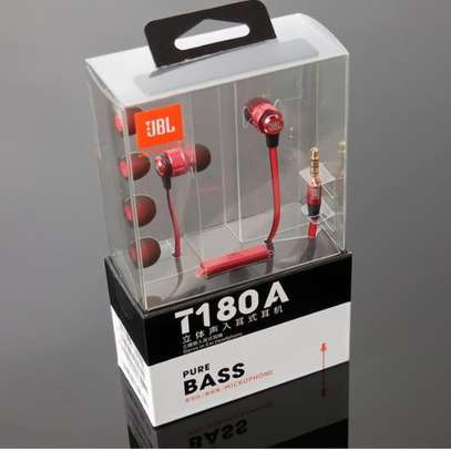 JBL T180A Universal 3.5mm In-ear Stereo Superbass Wired Earphones image 5