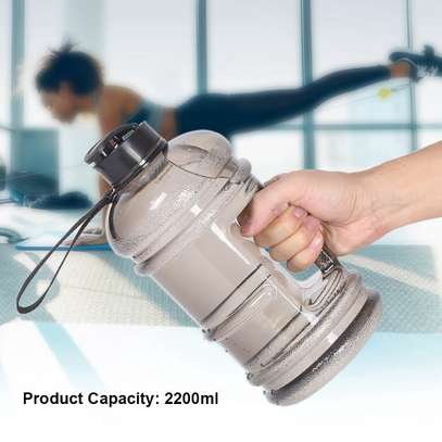 2.2L water bottle sports cup camping gym image 3