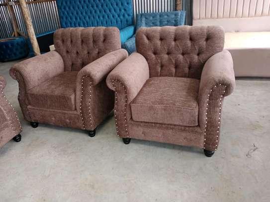 One seater sofa/tufted sofas/single seater sofa image 3