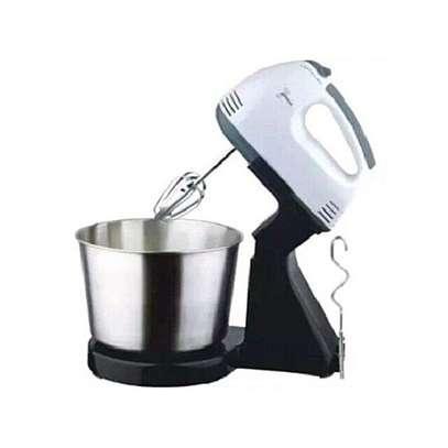 7 Speeds Electric Hand Mixer Dough Mixer with Bowl. image 1