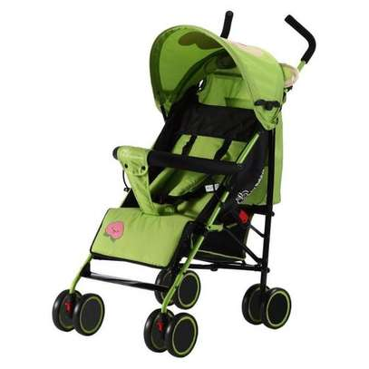 Green lightweight Foldable Baby Stroller/ pram/push chair/buggy image 3