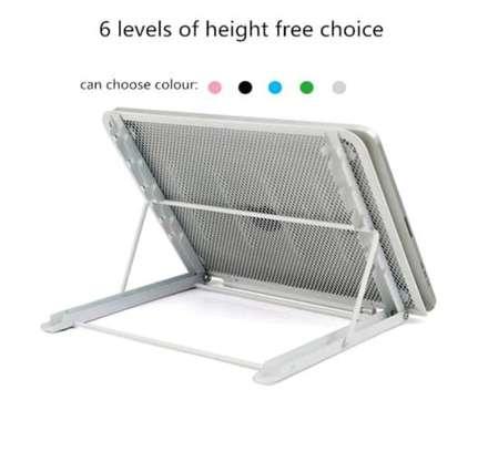 Ventilated adjustable laptop/tablet holder image 1
