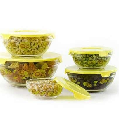 Storage Glass Bowls with Lids - Set of 5 image 5