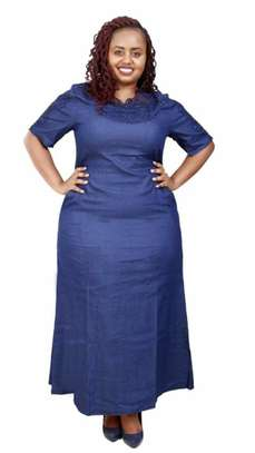 Long denim dress image 1