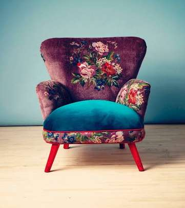 Kitenge Armchairs/Wing back chairs image 8