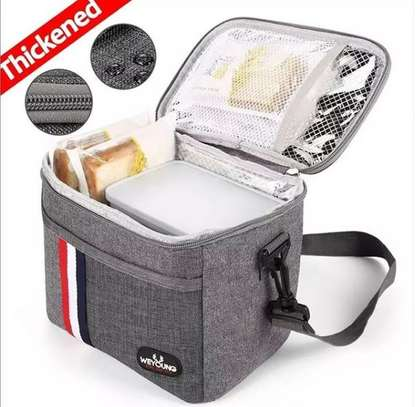Amazing Insulated denim lunch bag image 1