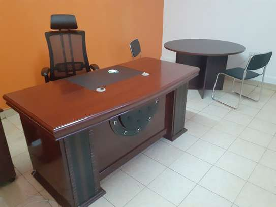 Executive Office Mahogany Desk 1.6Meters With Free Delivery & Installation image 1