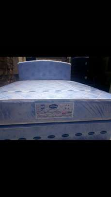 Bed with spring orthopedic mattresses image 1