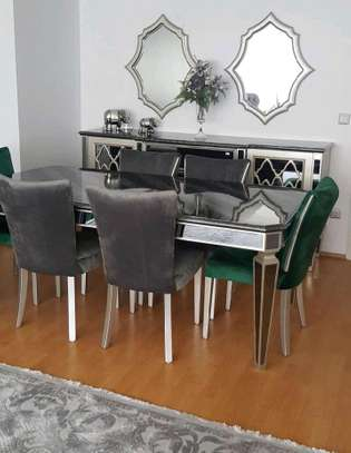 dining set/steel dining set/six seater dining set image 1