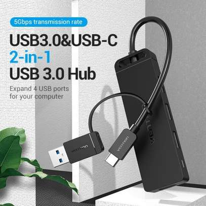VENTION 4-PORT USB 3.0 HUB WITH TYPE C & USB 3.0 2-IN-1 INTERFACE 0.15 METER image 2
