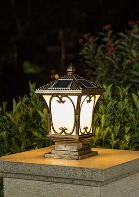 Solar pillar outdoor post lights image 1