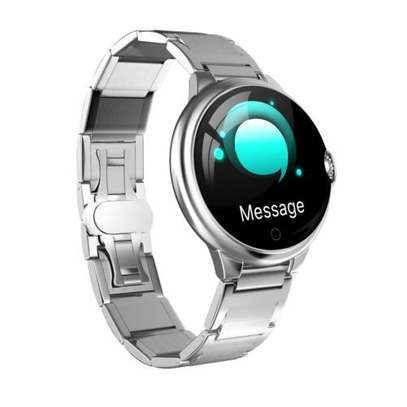 Fitness Health tracker Smart Watch with Hyperbolic Mirror Stainless steel straps image 3