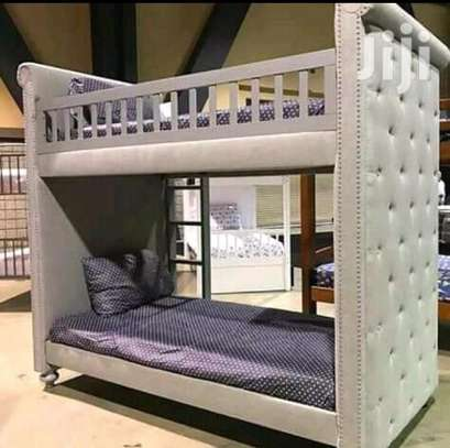 Fabric tufted Double decker beds image 2