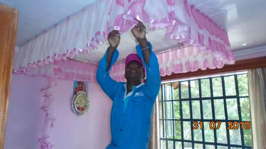 Mosquito Nets Sliding Like Curtains Fixed On The Ceiling image 4
