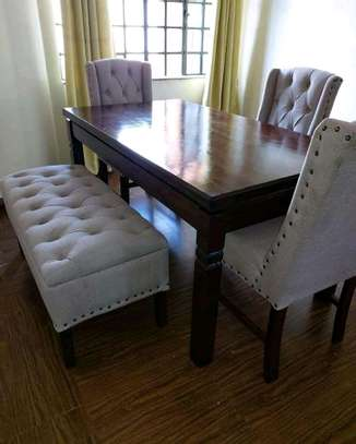 Stylish Functional 6 Seater Dining Set image 2