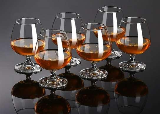 6 pcs Cognac/brandy glasses image 1