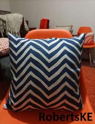 blue strip throw pillows image 1
