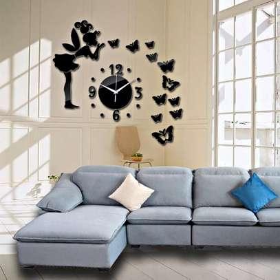 Modern Decor Wall Sticker Clock image 2