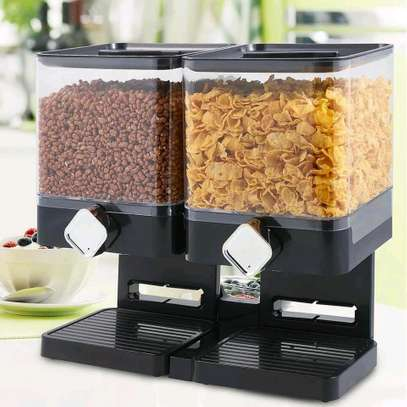 Box shaped 2 in one cereal dispenser