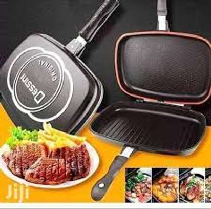 Dessini original die casting double grill pan 40cm image 1