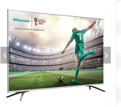 Hisense 43 Inch LED HDR 4K Ultra HD Smart TV 43B7100UW With Freeview Play, Black/Silver image 2