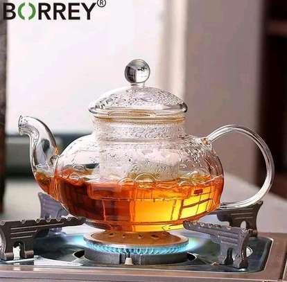High borosilicate glass kettle 1000ml image 1