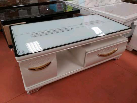 Seating room table with drawers