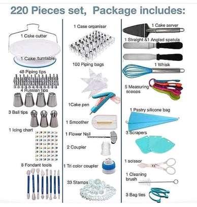 220 cake decorating set image 1