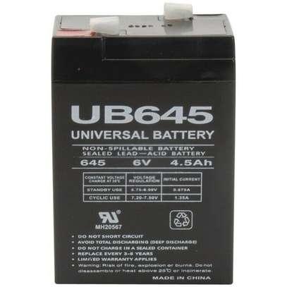 6Ah 4Volt 4 Amp Rechargeable Sealed Lead Acid Battery image 1