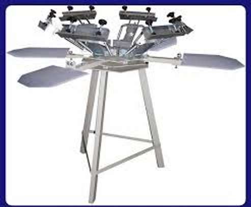 new 4 color 4 station screen printing machine image 2