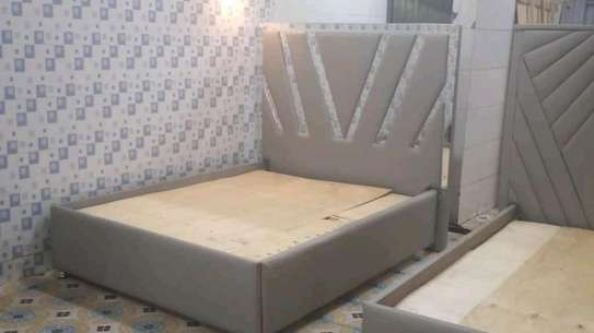 Beautiful Modern Quality 5by6 Upholstered Bed image 1