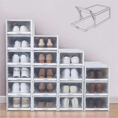 Shoes Storage Boxes Shelf Home Organizer - 18 Boxes image 1