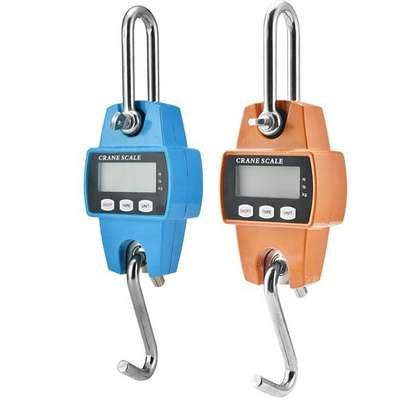 Digital Electronic Crane Scale LCD Display Aluminum Alloy Hanging Scales 300kg/0.05kg Double Precision image 1