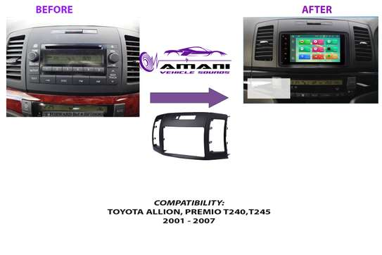 Fascia Panel For Toyota Allion T240, T245/ Premio 2001-2007 Size Double Din, Abs Material image 1