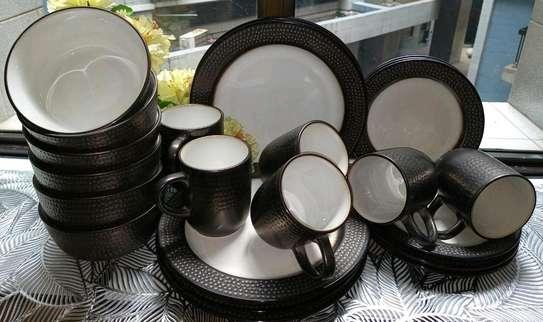 24-pieces ceramic dinner set image 3