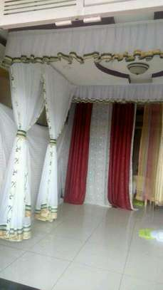 Mosquito Nets Sliding Like Curtains Fixed On The Ceiling image 11