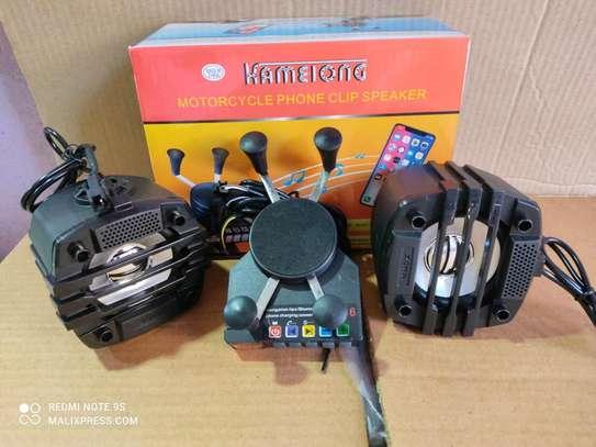 Motorcycle phone holder speaker image 1