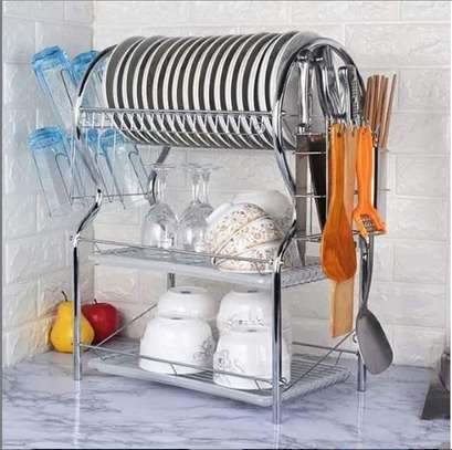 3 tier stainless steel dishrack image 1