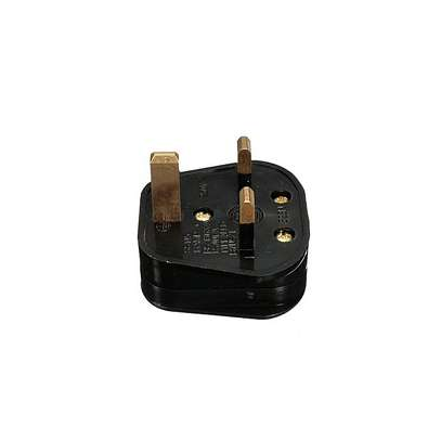 Fused 13A 13 amp Plug Black