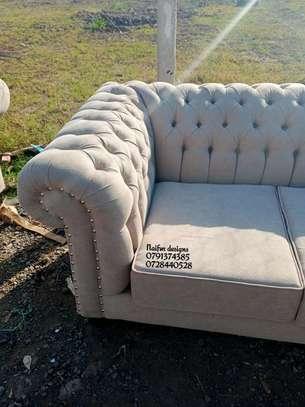 Three seater chesterfield sofas/beige sofas/modern sofas image 4