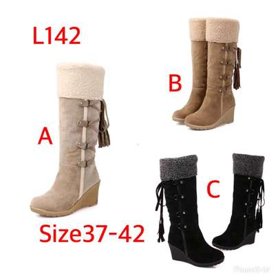 Ladies Knee length warm boots image 1