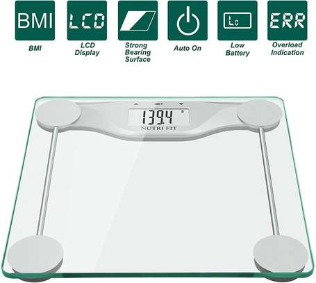 Bathroom Scale BMI, Accurate Weight Measurements Scale,Large Backlight Display and Step-On Technology,400 Pounds image 1