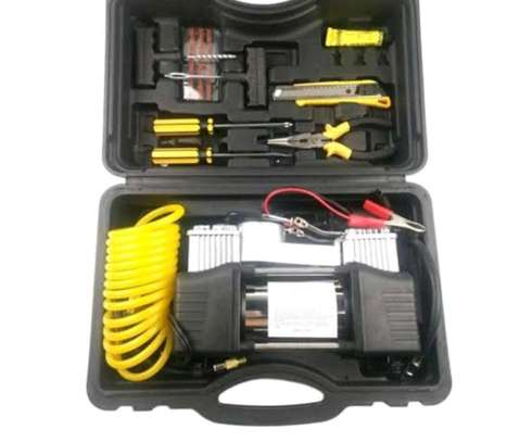 Double cylinder Tyre inflator with tools