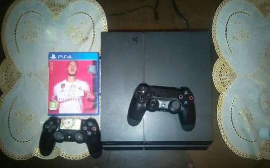 PS 4 plus 2 controllers ? fifa game disc and HDMI cable