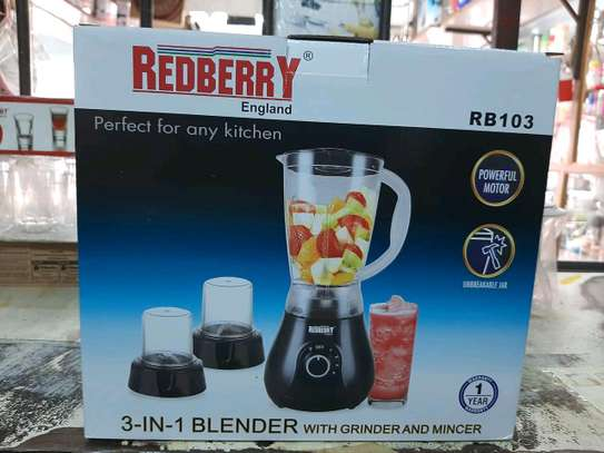 3in 1 red berry blender image 1