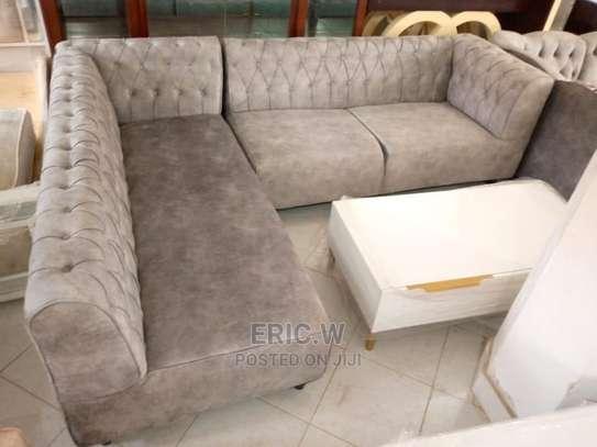 5 Seater L Shaped Sofa/Modern Sofa Design. image 1