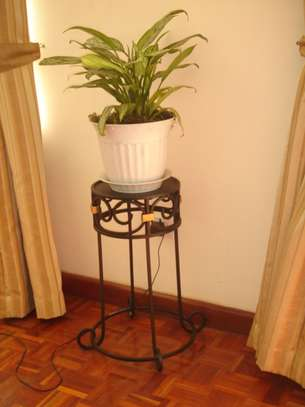 Wrought iron flower stand image 1