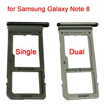 Replacement Dual/Single SIM Tray SD Card Reader for Samsung Galaxy Note 8 image 1