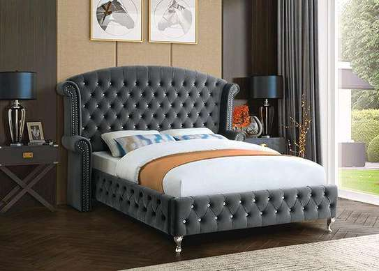 Modern grey chesterfield beds/Beds for sale in Nairobi Kenya/Latest bed designs/Unique beds kenya image 1